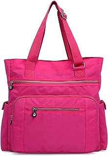 Mfeo Multi Pocket Womens Nylon Adjustable Top-Handle Shoudler Bag Large Capacity Shopping Bag Tote Work Bag