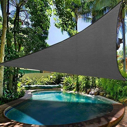 Paño de sombra de vela de sombrilla, velas de sombra de sol triangulares, toldo de toldo resistente a los rayos UV impermeable al aire libre para terraza de jardín al aire libre,Gris,3*3*3 m