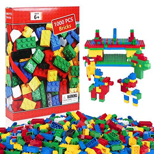iNeego Bausteine 1000 Stück Bauklötze Spielzeug Hochbau Ziegel Bunte Spielzeug Spielen Spiel für Kleinkind...