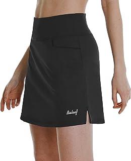 دامن های گلف کمری بلند زنانه BALEAF دامن ورزشی تنیس در حال اجرا ورزشی اسکورت فعال دامن با جیب