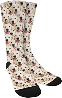 Custom Photo Pet Face Socks, Personalized Colorful Crew Socks for Men Women
