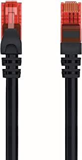 Welly Enjoy WY40155 Cavo di Rete Patch Cat.6 U/UTP Ethernet Gigabit LAN RJ45, Lunghezza 5 m, PVC, CCA, AWG 24/7, Nero