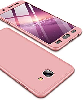 Galaxy J7 Max Case, Ranyi [Full Body 3 Piece Cover] [Slim & Thin Fit Tightly] [360 Degree Protection] Hybrid Bumper 3 in 1 Case for Samsung Galaxy J7 Max [Not For Galaxy J7 2017/J7 Prime] rose gold