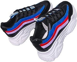 Scarpe Casual da Donna Primavera Autunno Donna Outdoor Lace UP Zeppe Scarpe da Corsa Ladies High Flatform Sneakers Traspir...