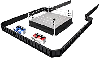 Ultimate Wrestling Ring Deluxe Playset With Barricade, Ring & Commentators Tables for Action Figures