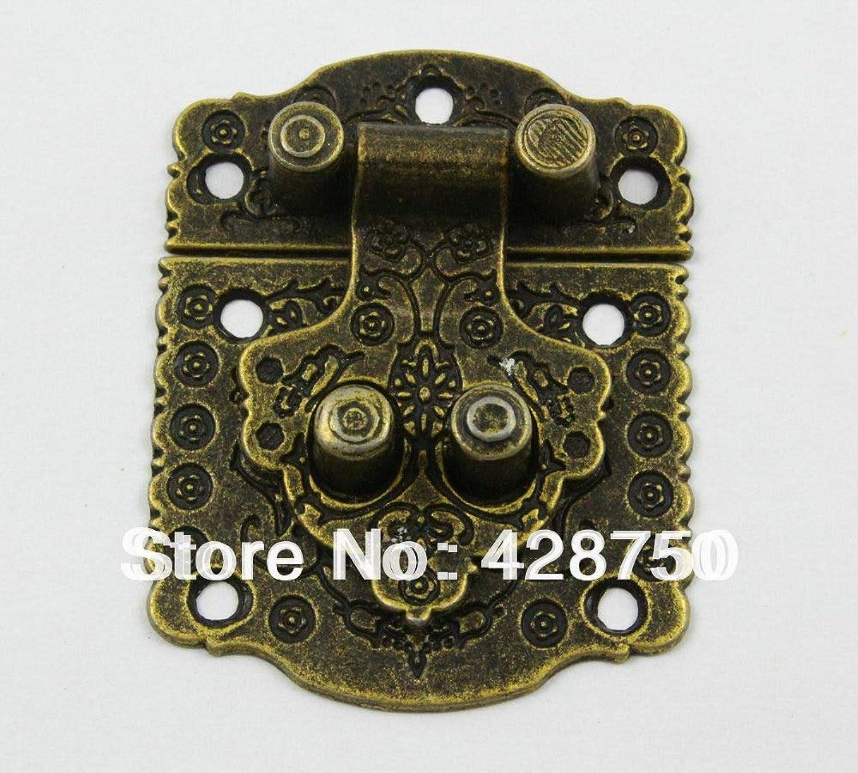 Antique Brass Jewelry Box Hasp Latch Lock 40x53mm with Screws