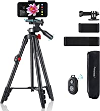 "Phone Tripod,Adjustable Portable 16.4""-54"",Cell Phone Tablet Camera Tripod Stand with Carry Bag,Remote Shutter Compatible,..."