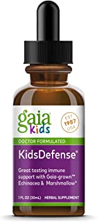 Gaia Herbs, GaiaKids KidsDefense Herbal Drops, Immune Support, Organic Echinacea, Black Elderberry, Ginger, Physician Form...