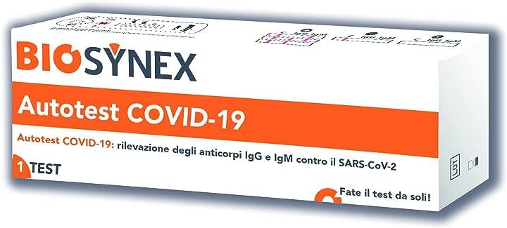 Autotest covid-19 biosynex color senza colore C10F40081