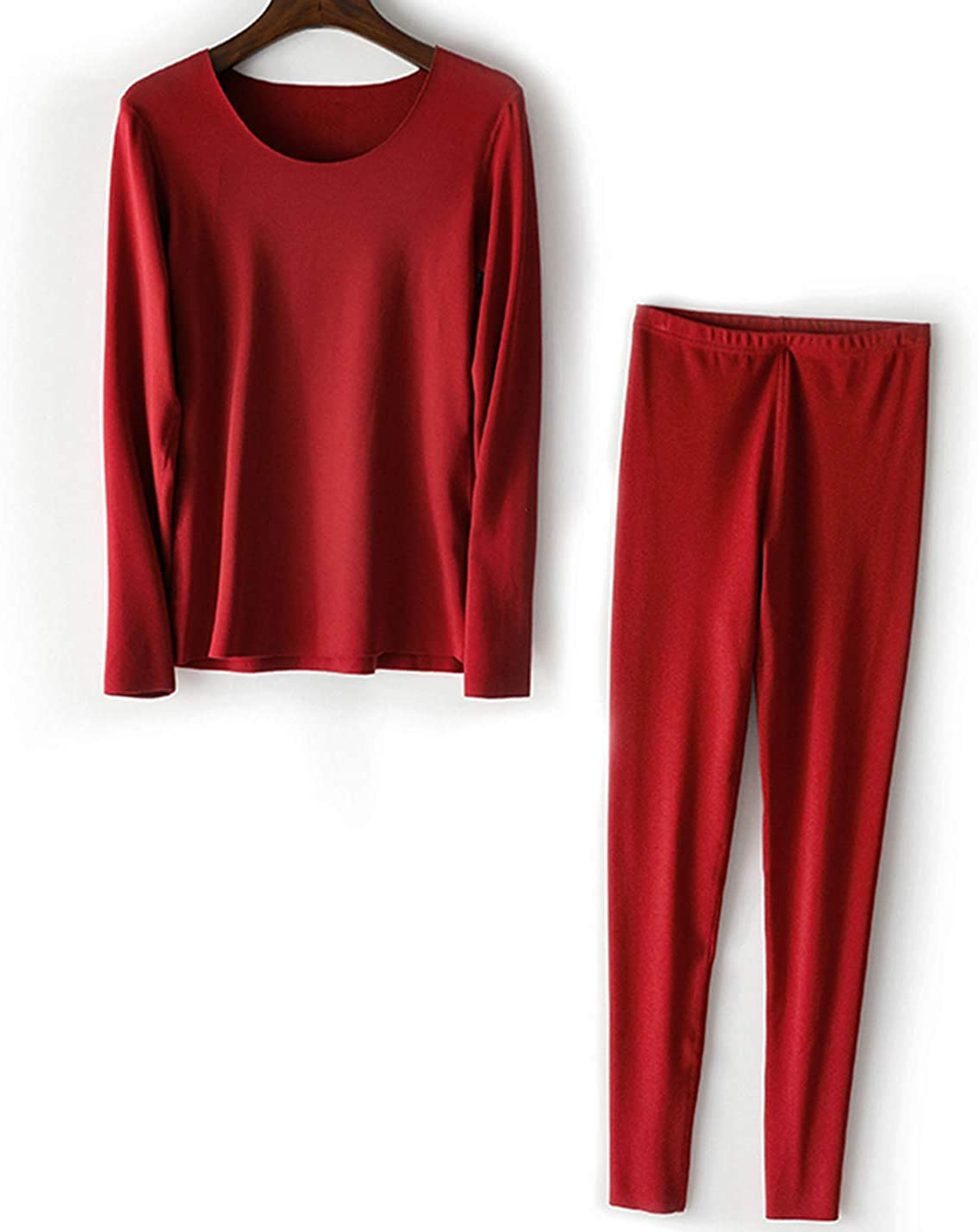 Flygo Women's Ultra-Soft Thermal Underwear Long John Set Baselayer Tops and Bottoms With Fleece Lined