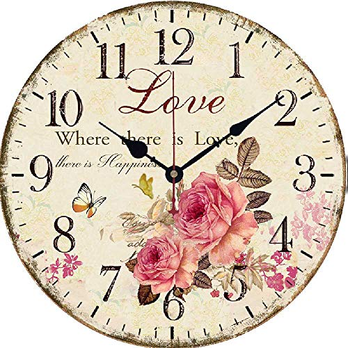 CHEBEND Chebendmodern Silent No Tick In The Living Roomproduct Living Room Mute Wooden Wall Clock Hanging Table Creative Clock Retro Wall Clock
