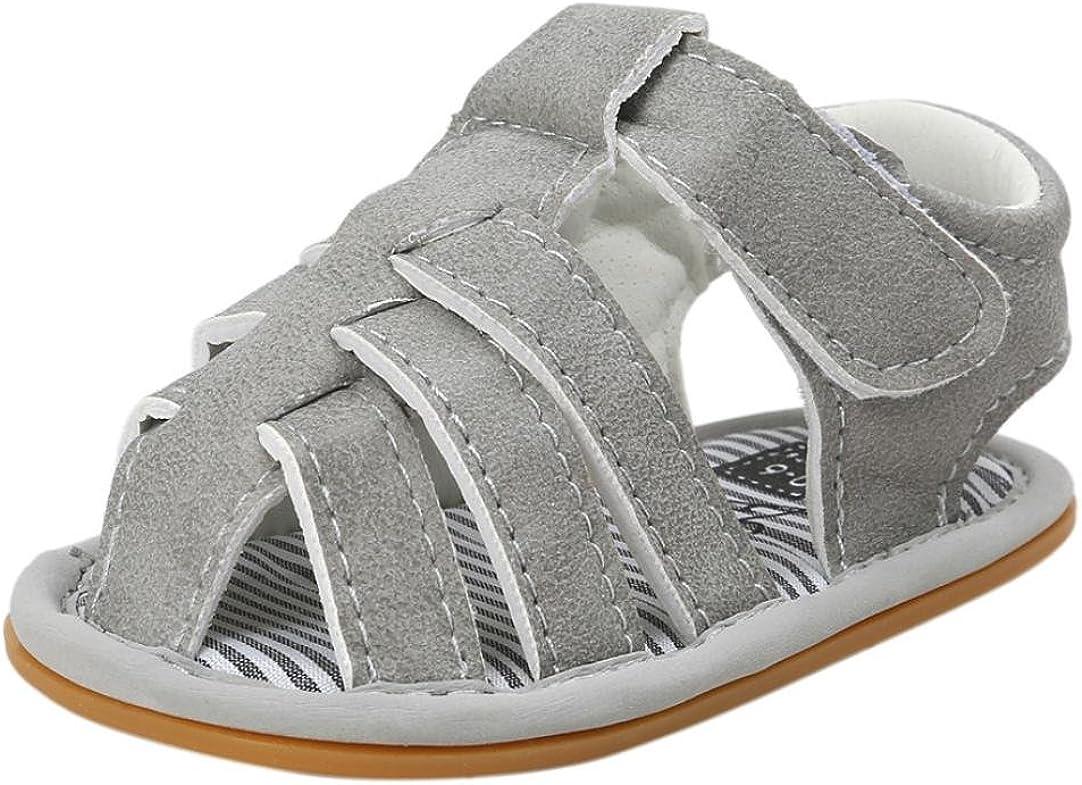 Forestime Baby Prewalker Newborn Girls Boys Strap Anti-Slip Leather Rubber Sole Sandal Shoes