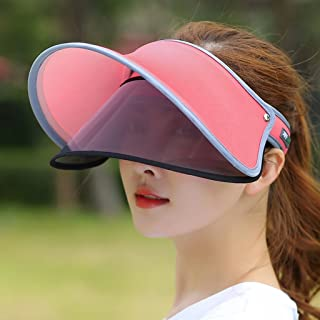 AINIYF Sun Hat with Sunglasses Golf Goggles, Retro Oversized Frame Sun Protection Hat (Color : Red)