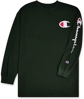 Champion Men's Big and Tall Classic Jersey Long Sleeve Script T-Shirt