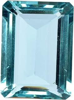 Translucent Brazilian Blue London Topaz 56.50 Ct Finest Emerald Cut Blue London Topaz Loose Gemstone