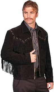 Men's Boar Suede Fringe Jacket - 221-19