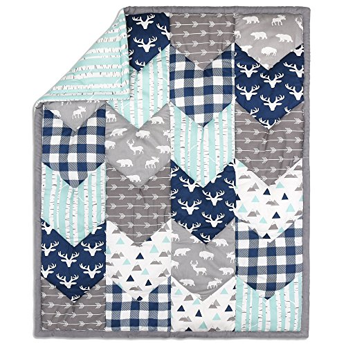 Buy Woodland Trail Chevron Patchwork Quilt by The Peanut Shell