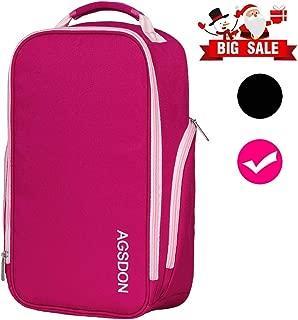 Shoe Bag - Premium Zipped Travel Shoes Golf Bags for Women - Pink Rose