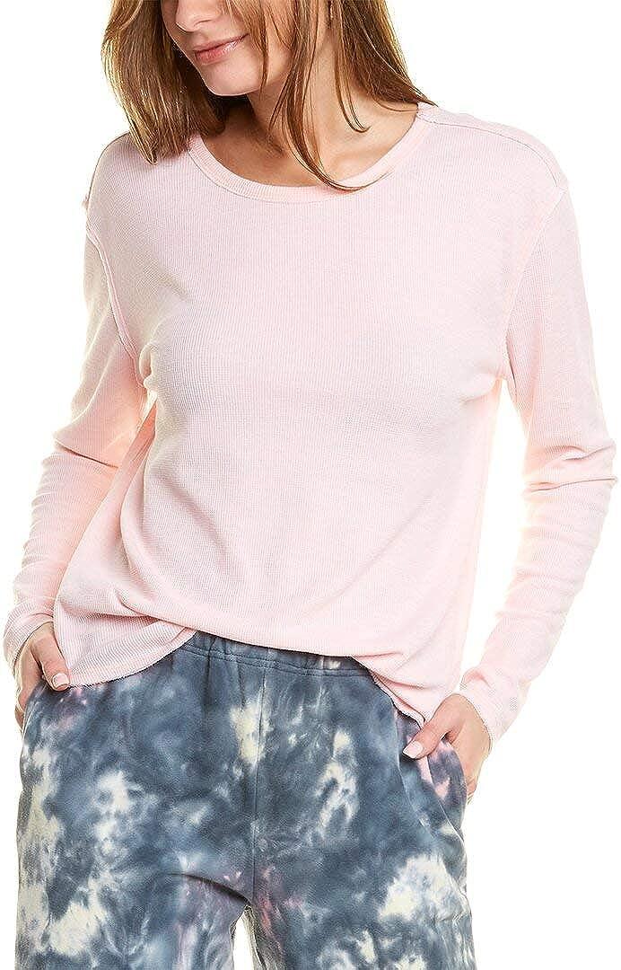 Lucky Brand Women's Long Sleeve Crew Neck Garment Dye Thermal Top