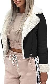 Winter Coats Women Short Jacket Warm Streetwear Plush Lined Jacket Biker Jacket Motor Flight Jacket Zipper Jacket