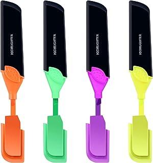moinkerin Marqueurs Fluorescents, Surligneur Tracé Marqueur Pointe Fluorescent Papeterie créative Marqueur Capacité avec r...