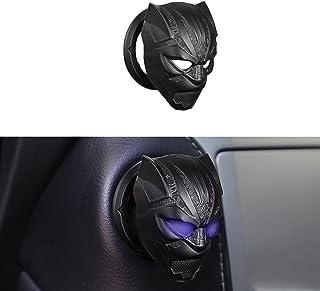 SAFJ Black Panther Car Motor احتراق دکمه شروع توقف پوشش دکمه تعویض محافظ کلید حلقه حلقه 3D لوازم جانبی داخلی