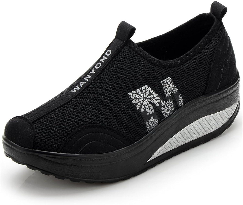 BeautyOriginal Women's Lightweight Comfortable Casual Walking Platform Air Fitness Sneakers Tennis shoes