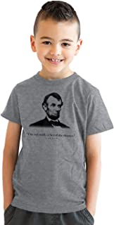 Youth Abraham Lincoln T Shirt Not a Fan of The Theater History Tee for Kids