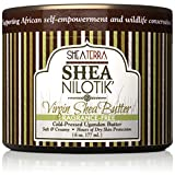 Shea Terra Organics 100% Organic Cold-Pressed Virgin Shea Butter – Fragrance-Free   Natural Anti-Aging Daily Skin, Nails & Hair Cream to Soften Dry Skin, Reduce Wrinkles & Stretch Marks – 6 oz