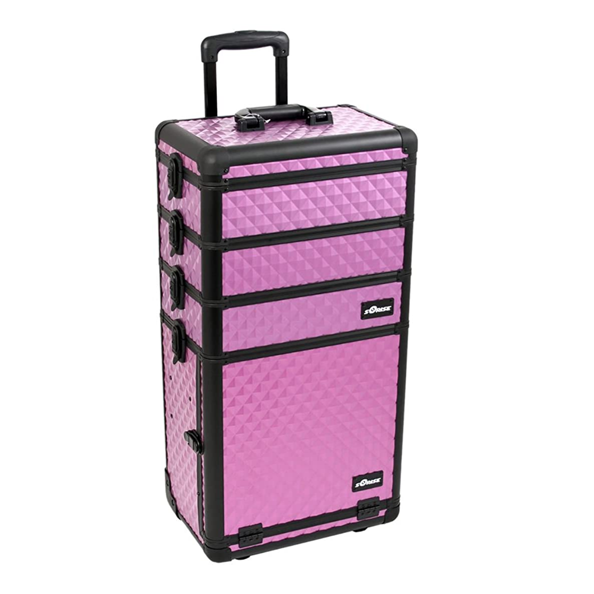 Craft Accents I3362 Diamond Trolley Craft/Quilting Storage Case, Purple