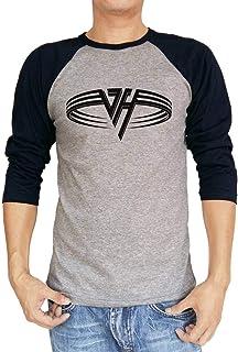 Van Halen Eddie Original Logo Hagar Baseball Raglan 3/4 Sleeve Men's T-Shirt