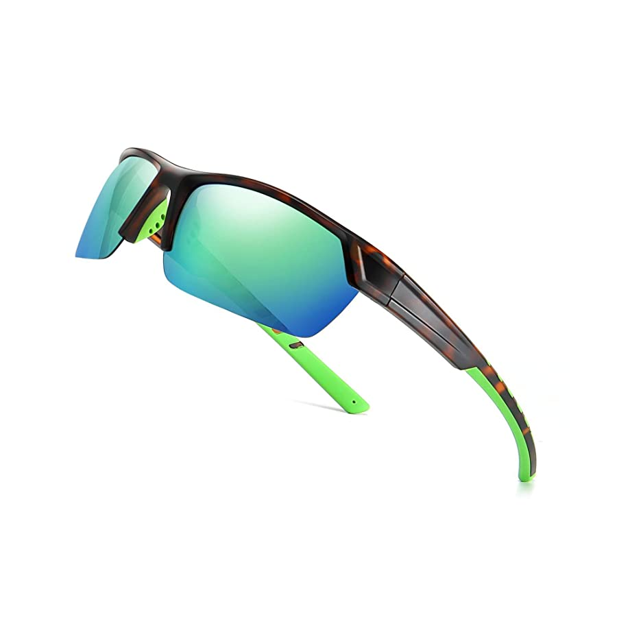SUNGAIT Polarized Sports Sunglasses for Cycling Fishing Driving UV Protection