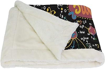 VAWA ブランケット ひざ掛け かわいい 化学公式柄 毛布 着る 厚手 大きい 大判 紐付き 寒さ対策 オフィス アウトドア用 数学柄 幾何学 面白い