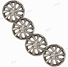 "Silver 16"" Bolt on Hub Cap Wheel Covers for Hyundai Elantra - Set of 4"