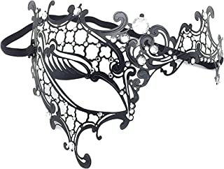 KINGSEVEN Rhinestone Metal Masquerade Mask for Women,Girls,Ladies