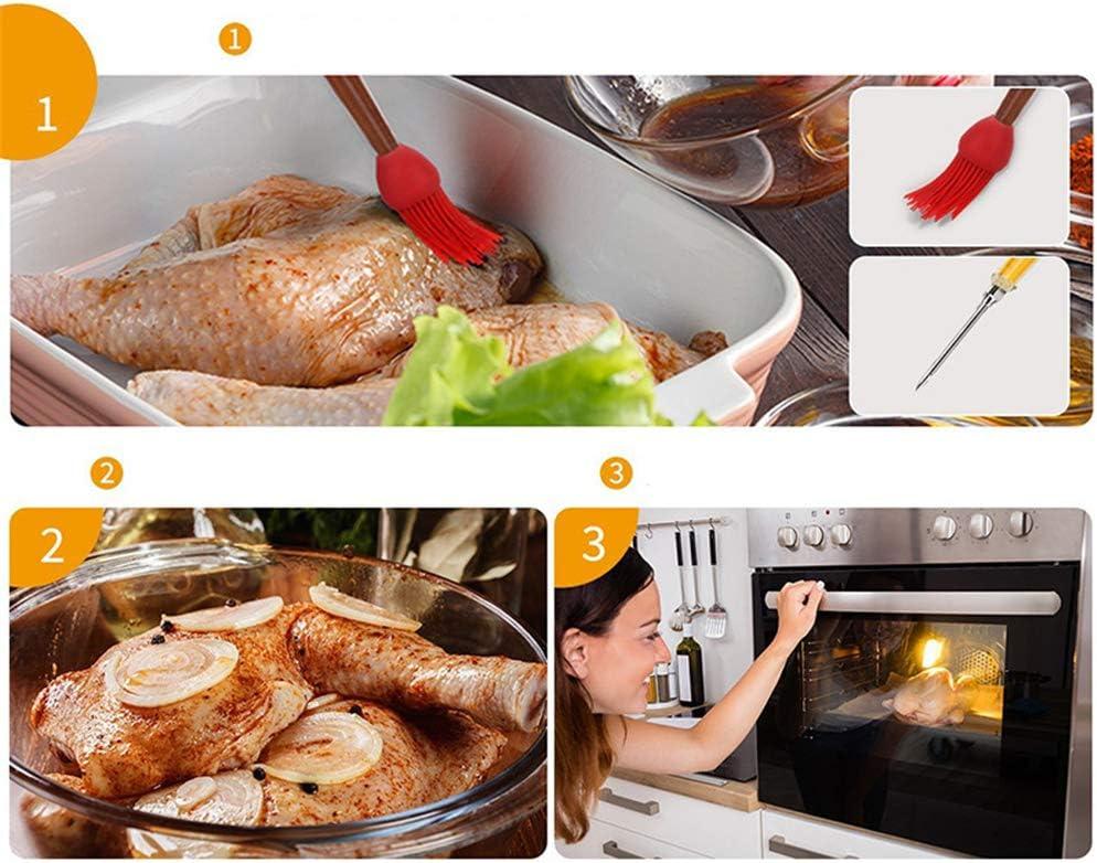SHEANAON Jeringa Cocina Inyector de Sabor para Marinar Cuentagotas de aceite Inyector de Salsas Inyector de Carne Aguja para Especias Jeringa marinar para Pollo Pastel de Ternera