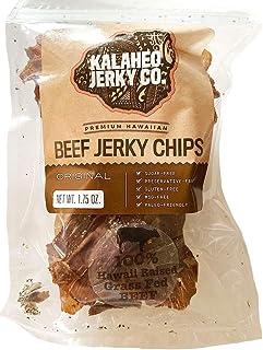 Beef Jerky Chips Original Grass Fed Beef Sugar Free, Kalaheo Beef Jerky, 1.75 oz.