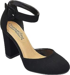 Comfort Nola Women's Closed Toe Ankle Strap Block Heel