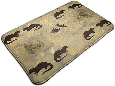 River Otters_214 Personalized Custom Doormats Indoor/Outdoor Doormat Door Mats Non Slip Rubber Kitchen Rugs 23.6 x 15.8 inch