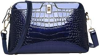 Sherry-Handtasche für Damen, modisch, Krokodil-Schultertasche, Lackleder, Handtasche