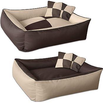 Wende-Hunde-Kissen oval-rund BedDog/® 2in1 Hundebett REX gro/ßes Hundek/örbchen Hundesofa waschbares Hundebett