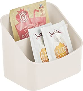 mDesign élément de cuisine – boite de rangement pour soupes en sachet; épices, etc. – porte-épices en plastique avec 2 com...