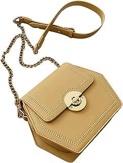 COAFIT Women's Crossbody Bag All-Match Fashion Hexagon Shoulder Bag (Yellow)