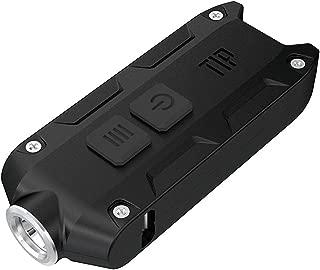 NITECORE TIP2017 Nitecore TIP 2017 Upgrade 360 Lumen USB Rechargeable Keychain Flashlight (Black), Youth-Unisex