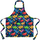 Sylfairy Aprons for Kids Girls Rainbow Unicorn Apron with Pockets for Children Kitchen Chef Aprons for Cooking Baking Painting and Party Family Gifts(Small,3-5Years)
