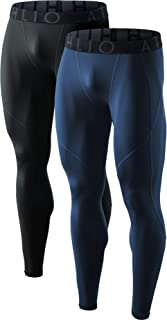 Men's (Pack of 1, 2) Cool Dry Compression Pants Active Sports Baselayer