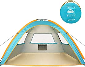 ZOMAKE Pop Up Beach Tent 2-3 Person, Lightweight Portable Sun Shelters Sun Shade Instant Tent Outdoor Cabana with UPF 50+ UV Protection for Baby, Family
