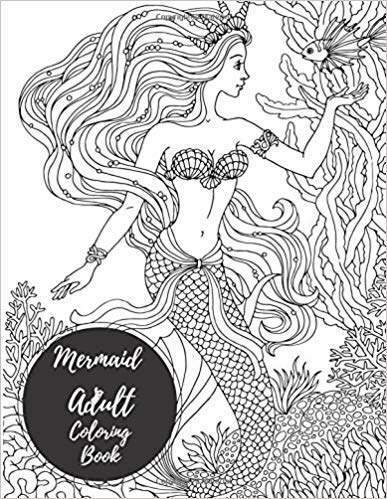 This is a graphic of Free Printable Mermaid Coloring Pages for Adults within clipart