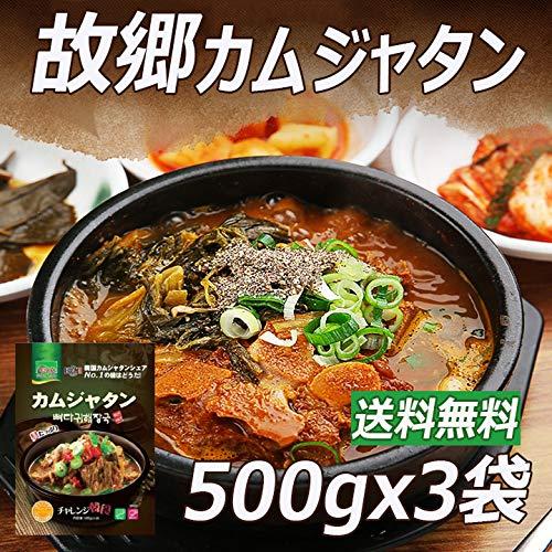故郷カムジャタン 500g×3袋 ■韓国食品■韓国料理/韓国食材/韓国スープ/スープ/冬/即席食品/レトルト食品/インスタント食品/簡単料理/激安