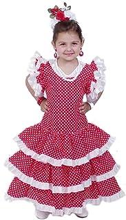 EL CARNAVAL Disfraz Sevillana niña Talla de 6 a 8 años